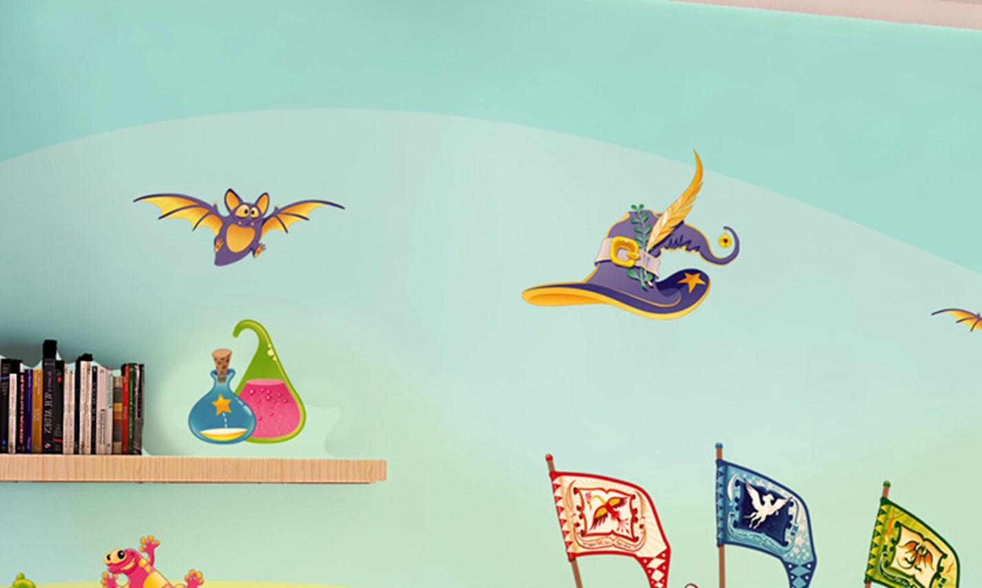 Stickers murali bambini cameretta a scuola di magia - Stickers x camerette ...